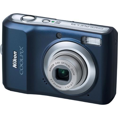 Nikon Coolpix L20 Digital Camera (Navy Blue)