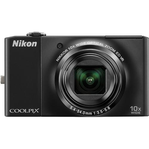 Nikon CoolPix S8000 Digital Camera (Black)
