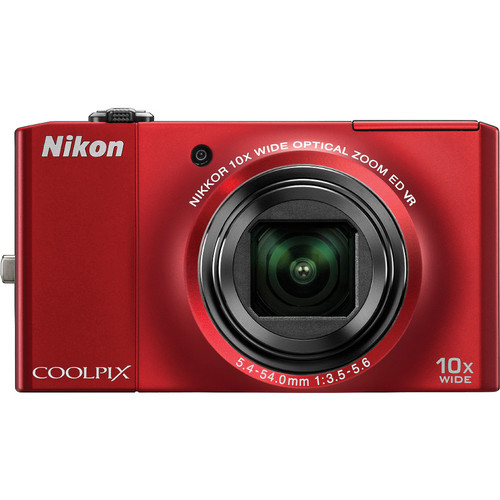 Nikon CoolPix S8000 Digital Camera (Red)