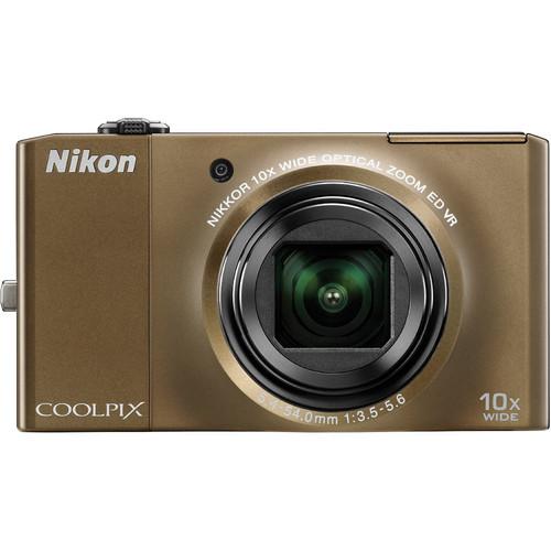 Nikon CoolPix S8000 Digital Camera (Bronze)