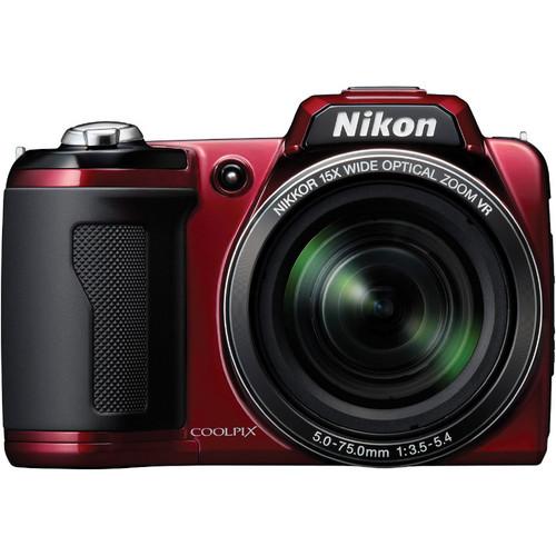 Nikon Coolpix L110 Digital Camera (Red)