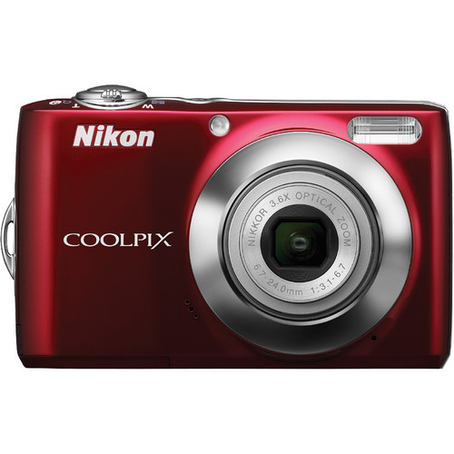 Nikon Coolpix L22 Digital Camera (Red)