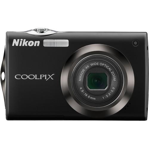 Nikon Coolpix S4000 Digital Camera (Black)