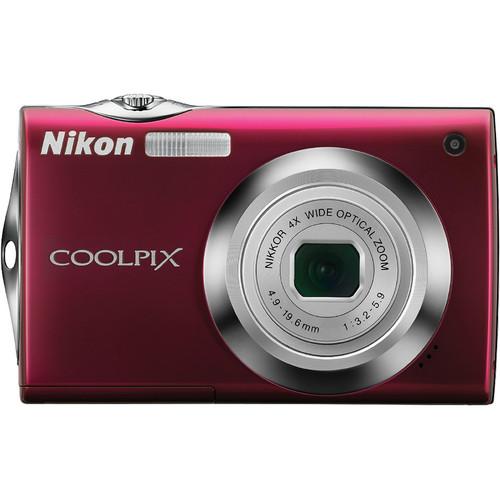 Nikon Coolpix S4000 Digital Camera (Red)