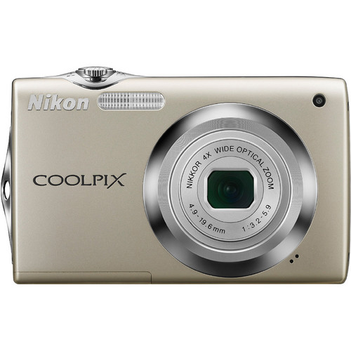 Nikon CoolPix S3000 Digital Camera (Silver)