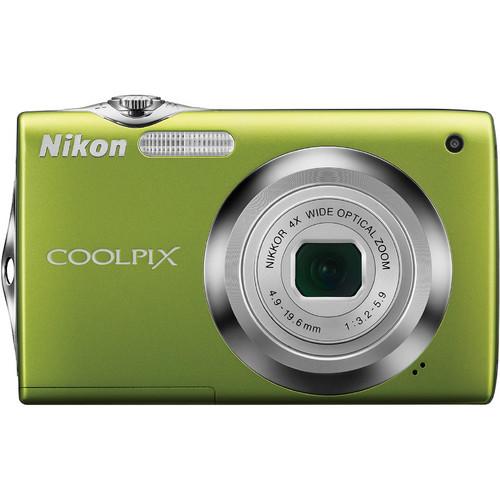 Nikon CoolPix S3000 Digital Camera (Green)