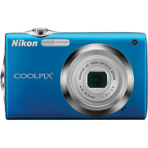 Nikon CoolPix S3000 Digital Camera (Blue)