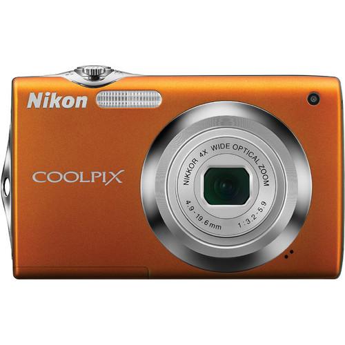 Nikon CoolPix S3000 Digital Camera (Orange)