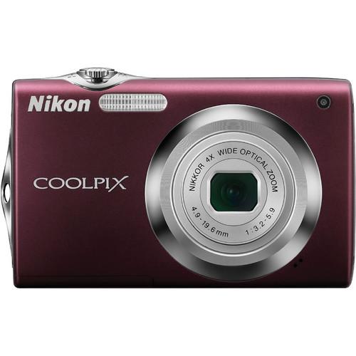 Nikon Nikon CoolPix S3000 Digital Camera (Plum)