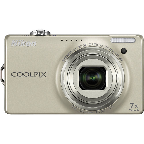 Nikon CoolPix S6000 Digital Camera (Silver)