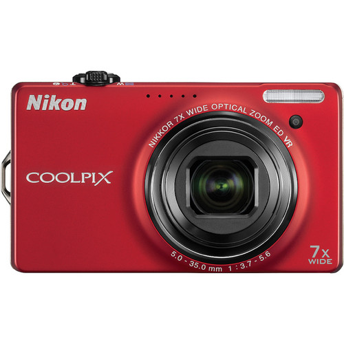 Nikon CoolPix S6000 Digital Camera (Red)