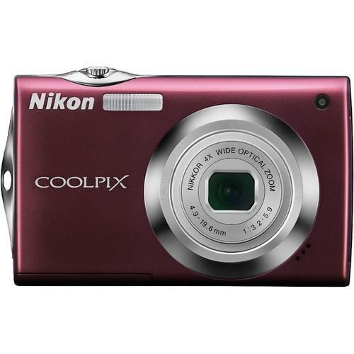 Nikon Coolpix S4000 Digital Camera (Plum)