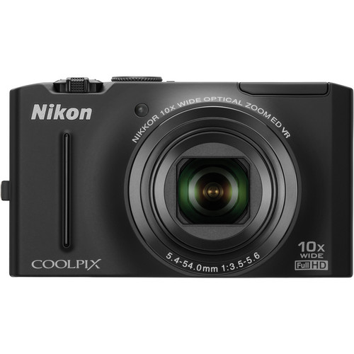 Nikon CoolPix S8100 Digital Camera (Black)