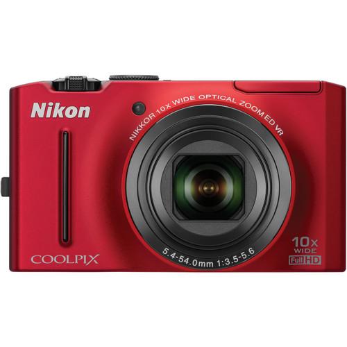 Nikon CoolPix S8100 Digital Camera (Red)