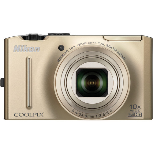Nikon CoolPix S8100 Digital Camera (Gold)