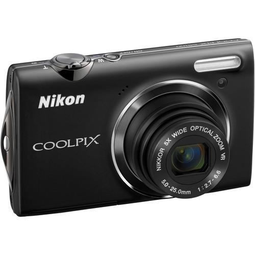 Nikon CoolPix S5100 Compact Digital Camera (Black)