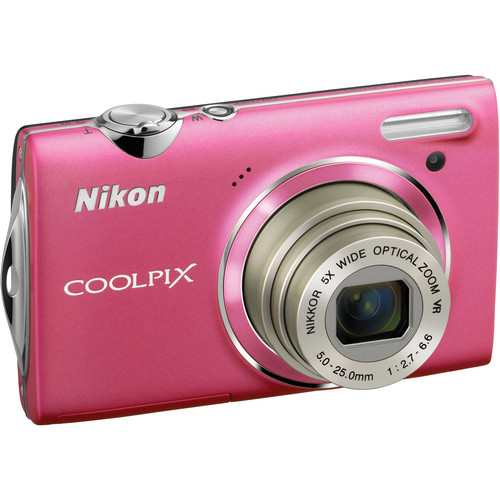 Nikon CoolPix S5100 Compact Digital Camera (Pink)