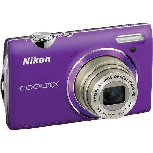 Nikon CoolPix S5100 Compact Digital Camera (Purple)