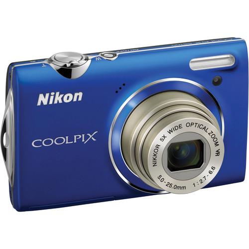 Nikon CoolPix S5100 Compact Digital Camera (Blue)