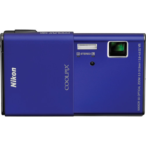 Nikon CoolPix S80 Digital Camera (Blue)
