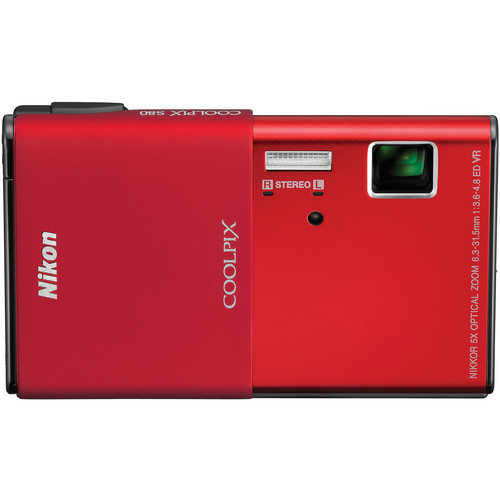 Nikon CoolPix S80 Digital Camera (Red)