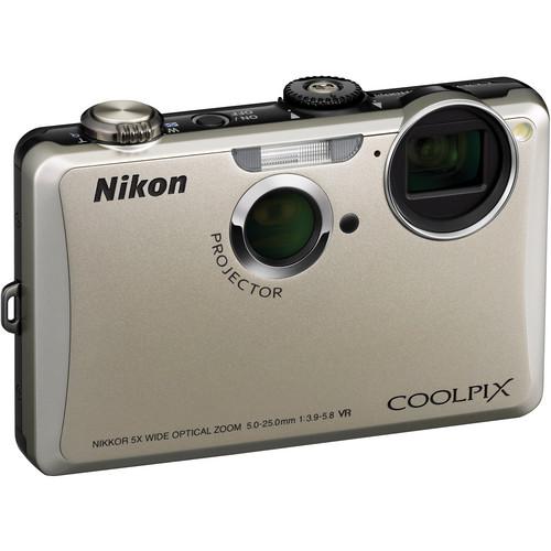 Nikon Coolpix S1100pj Digital Camera (Silver)