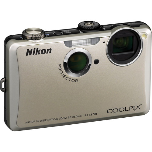 Nikon Coolpix S1100pj Digital Camera (Silver)