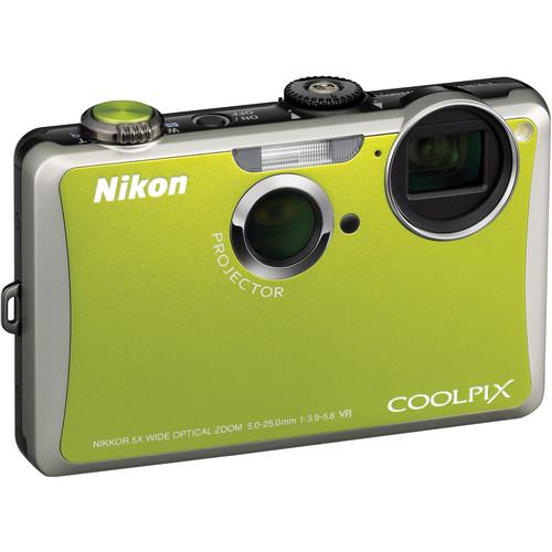 Nikon Coolpix S1100pj Digital Camera (Green)