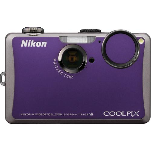 Nikon Coolpix S1100pj Digital Camera (Violet)