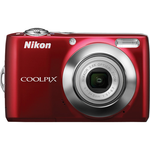 Nikon Coolpix L24 Digital Camera (Red)