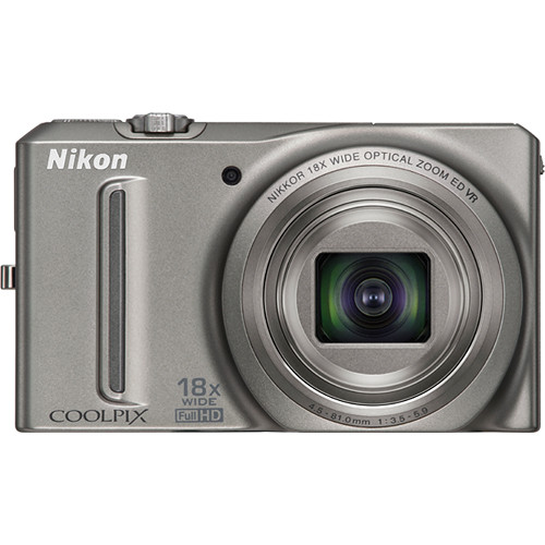 Nikon Coolpix S9100 Digital Camera (Silver)
