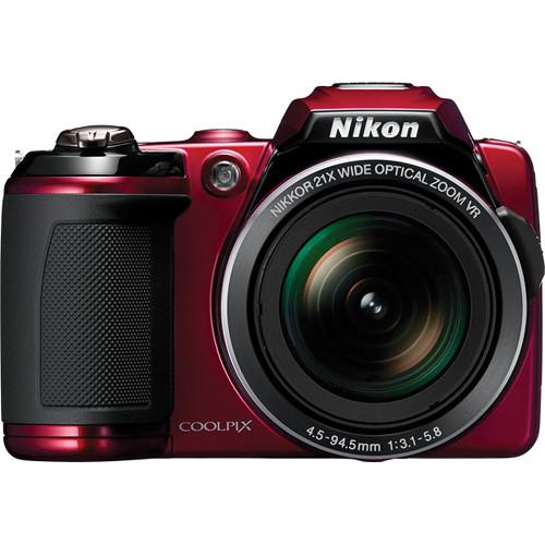 Nikon Coolpix L120 Digital Camera (Red)