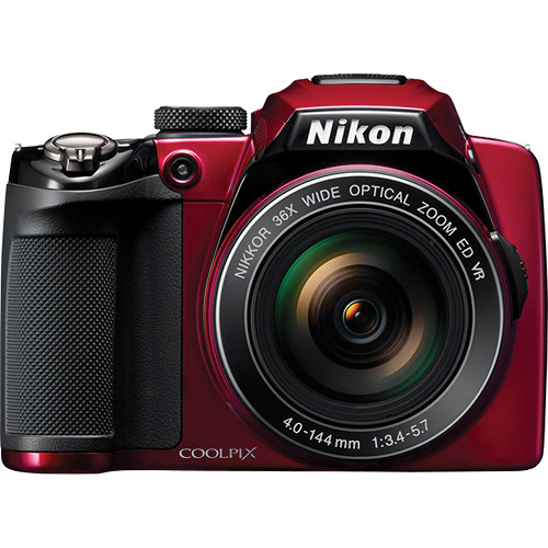 Nikon Coolpix P500 Digital Camera (Red)