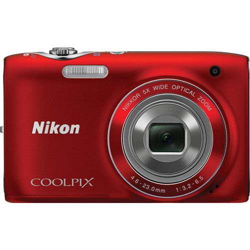 Nikon Coolpix S3100 Digital Camera (Red)