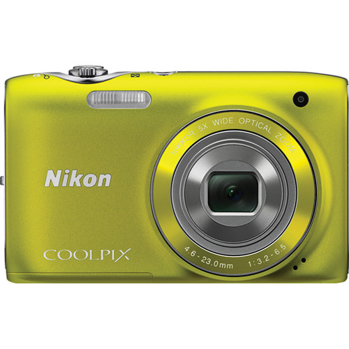 Nikon Coolpix S3100 Digital Camera (Yellow)