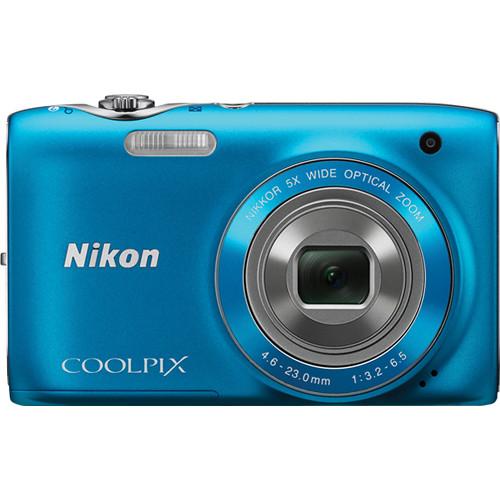 Nikon Coolpix S3100 Digital Camera (Blue)
