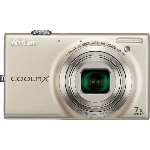 Nikon Coolpix S6100 Digital Camera (Silver)