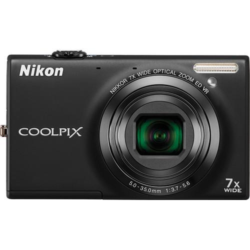 Nikon Coolpix S6100 Digital Camera (Black)