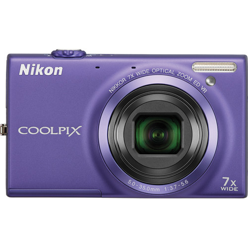 Nikon Coolpix S6100 Digital Camera (Violet)