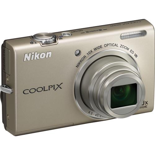 Nikon Coolpix S6200 Digital Camera (Silver)