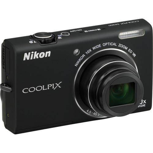 Nikon Coolpix S6200 Digital Camera (Black)