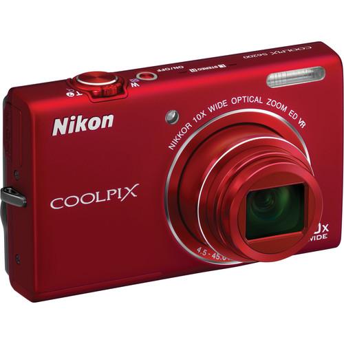 Nikon Coolpix S6200 Digital Camera (Red)