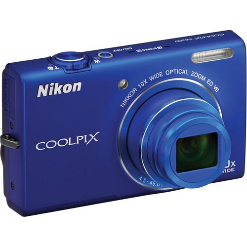 Nikon Coolpix S6200 Digital Camera (Blue)