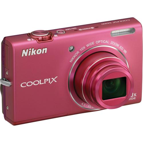 Nikon Coolpix S6200 Digital Camera (Pink)
