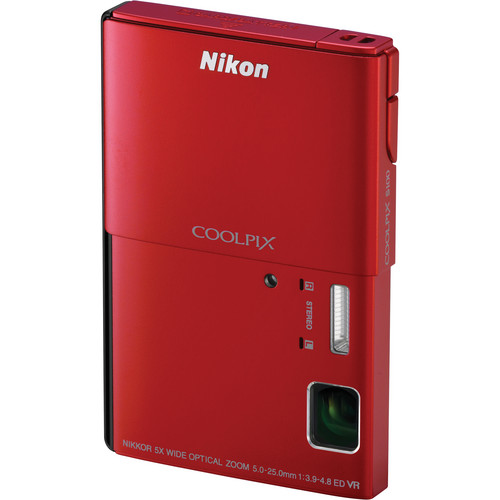 Nikon CoolPix S100 Digital Camera (Red)