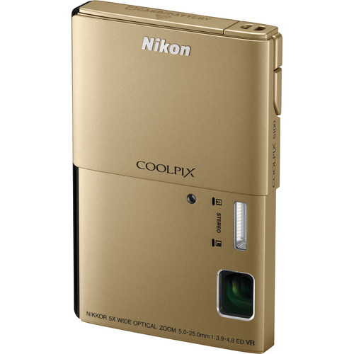 Nikon CoolPix S100 Digital Camera (Gold)