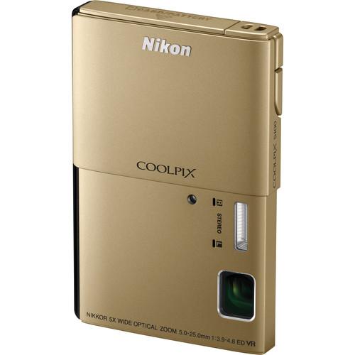 Nikon CoolPix S100 Digital Camera (Gold)