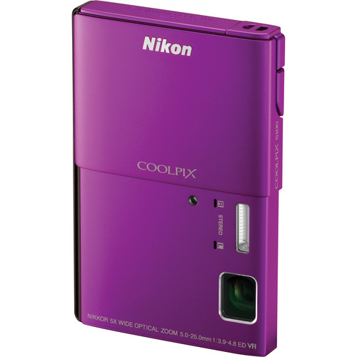 Nikon CoolPix S100 Digital Camera (Purple)