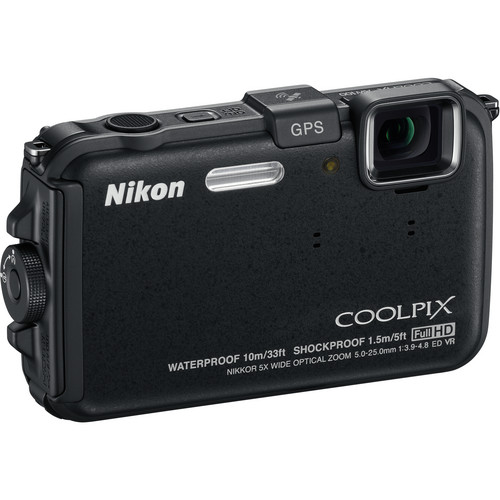Nikon Coolpix AW100 Waterproof Digital Camera (Black)