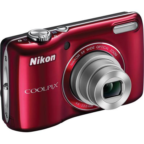 Nikon Coolpix L26 Digital Camera (Red)